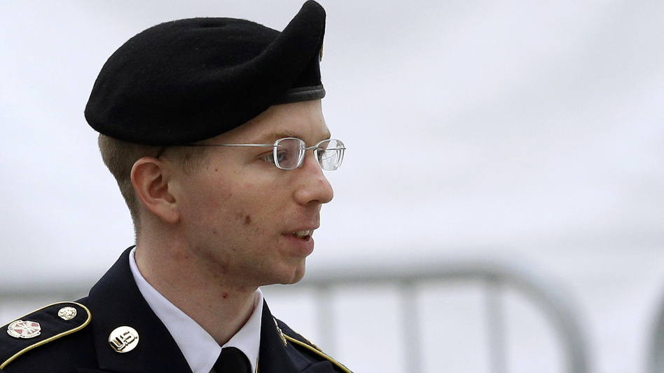 The trial of Army Pfc. Bradley Manning, seen here last month, began Monday with prosecutors saying he delivered thousands of classified documents to America's enemies when he provided data to WikiLeaks. Patrick Semansky/AP