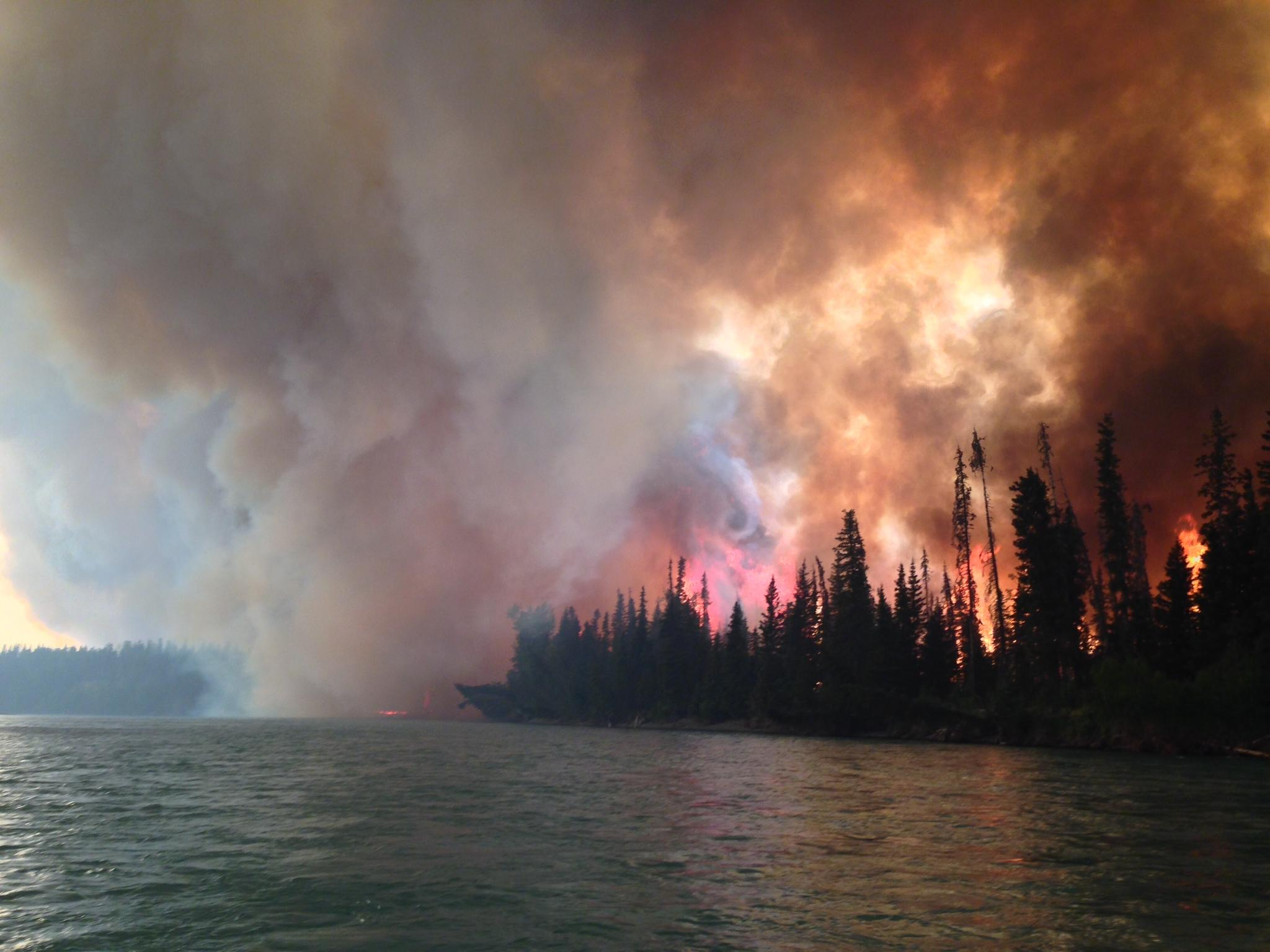 The Funny River fire on May 25. (Photo by Josh Turnbow/Courtesy Alaska Inciweb)