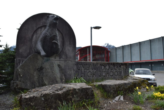 Juneau-Douglas High School has received at least three threatening phone calls since late April. (Photo by Casey Kelly/KTOO)