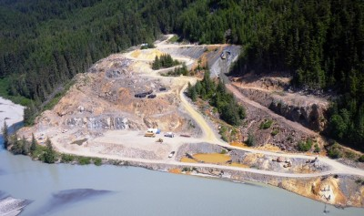 An aerial view of the Tulsequah Chief Mine mine site. (Photo by Joe Hitselberger, ADF&G)