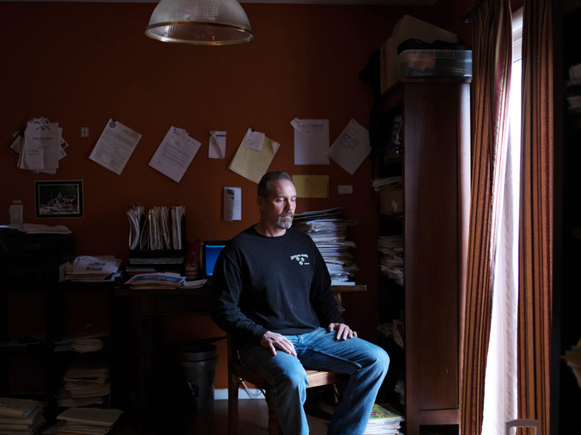 Doug Quinn has been living in a rented home in Toms River, N.J., while he still pays his mortgage and flood insurance on his house that was destroyed by Superstorm Sandy. Bryan Thomas for NPR