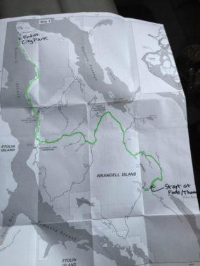 Wrangell bat survey route. (Photo by Aaron Bolton/KSTK)