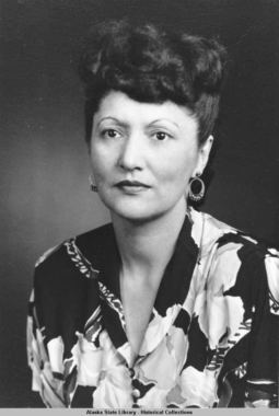 Portrait of Elizabeth Peratrovich. (Photo courtesy Alaska State Library Office of the Governor Collection, P274-1-2)