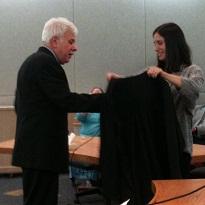 Superior Court Judge Louis Menendez and daughter Pilar Menendez Tragesser