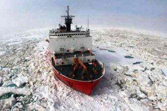 Coast Guard Cutter Healy in Ice