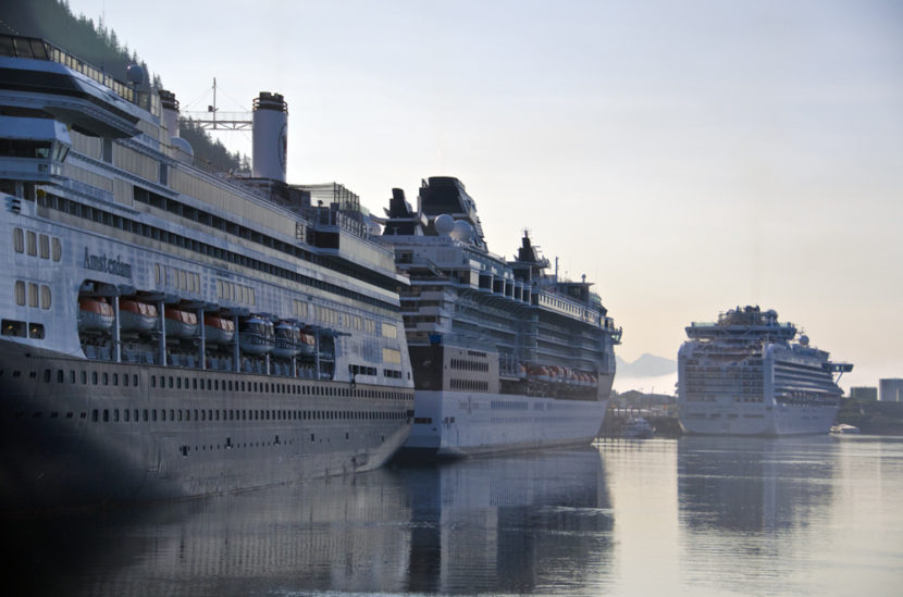 Cruise ships in port in Juneau (Photo by Heather Bryant/KTOO)