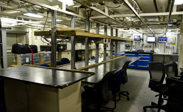 One of the labs used by scientists aboard the Healy.
