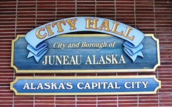 Juneau city hall welcome sign - CBJ website