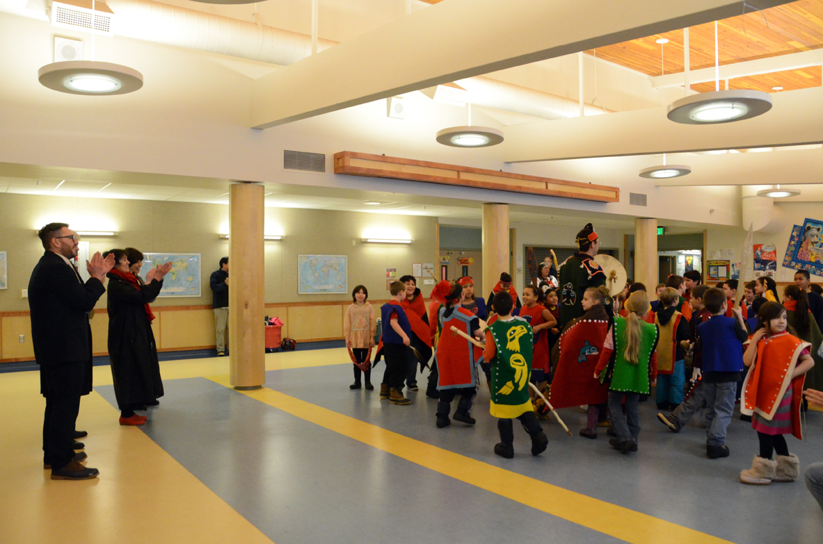 Students also got the chance to show off their dancing and regalia.