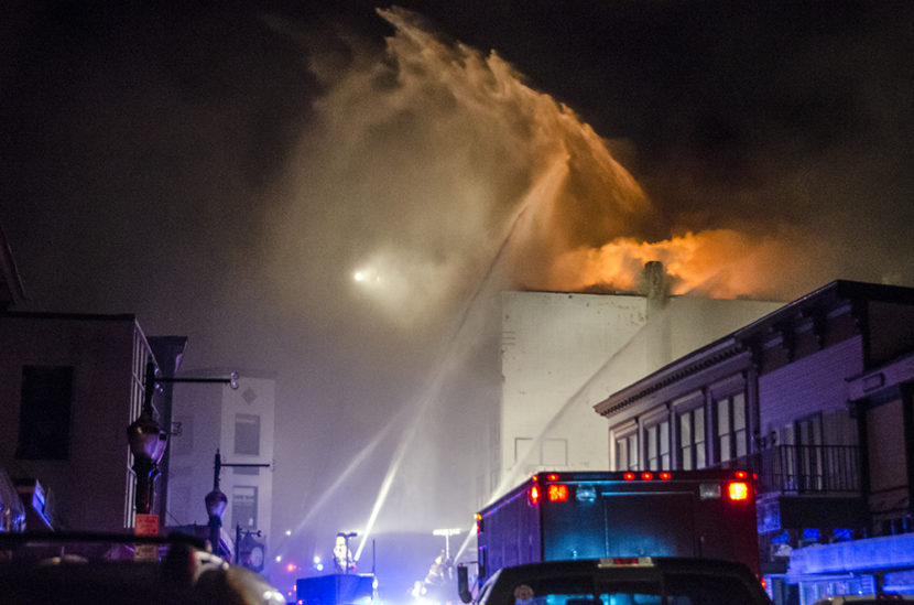 Capital City Fire/Rescue spent the night of Nov. 5, 2012 fighting a blaze at the Gastineau Apartments in downtown Juneau. The building was a total loss.
