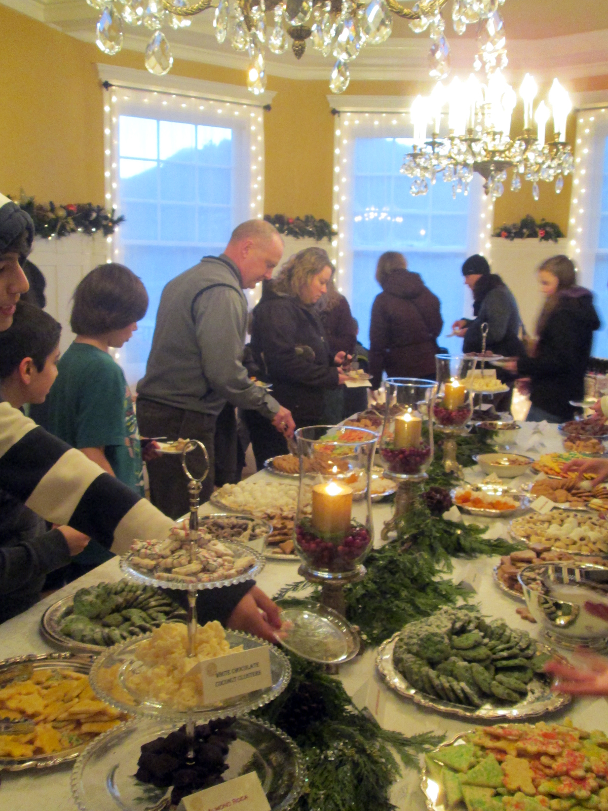 Attendees were able to fill plates with cookies, fudge and other treats