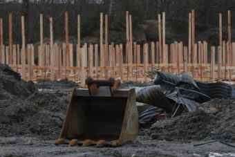 Construction for the indoor gun range is underway at 1720 Crest St. near the Juneau International Airport.