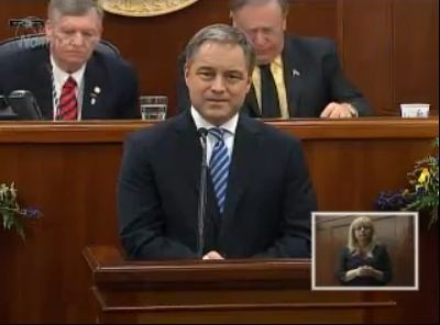 Governor Parnell addresses the Alaska House and Senate.