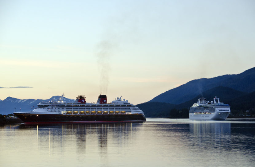 Disney and Princess cruise ships in Juneau last summer.