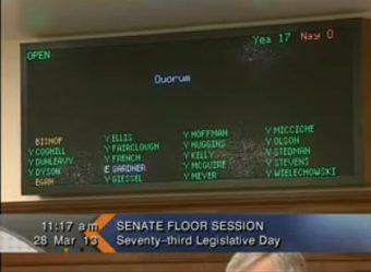 Roll call at Thursdays Senate Floor session