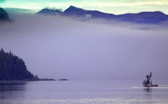 An Alaska fishing trawler.