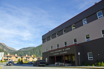 The Alaska Department of Labor and Workforce Development building in Juneau. (Photo by Heather Bryant/KTOO)