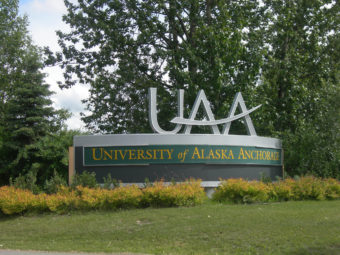 University of Alaska Anchorage sign