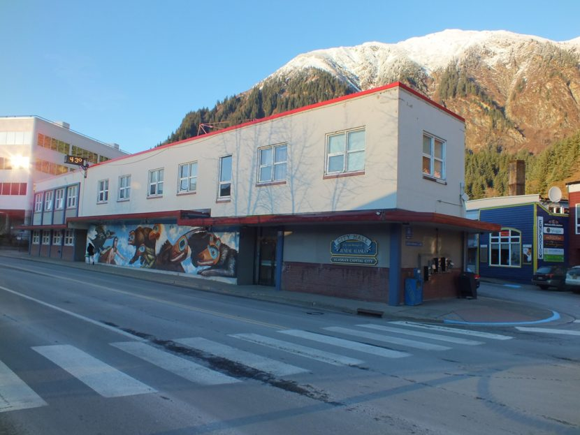 Juneau City Hall sunny winter day