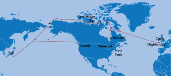 Arctic Fibre's existing and planned network.