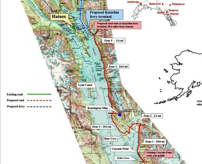 Juneau Access map