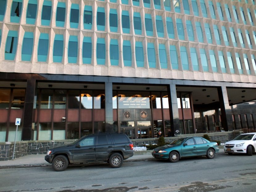 Robert Boochever U.S. Courthouse is located on the ninth floor of the Hurff Ackerman Saunders Federal Building in Juneau. (Photo by Matt Miller/KTOO)