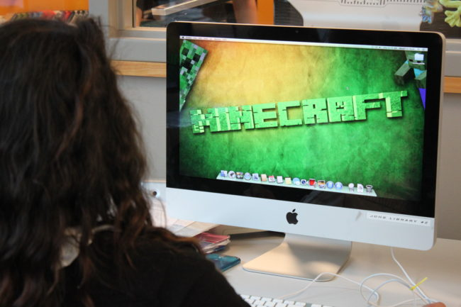 Minecraft could help engage students in science, technology, engineering, and math. (Photo by Lisa Phu/KTOO)