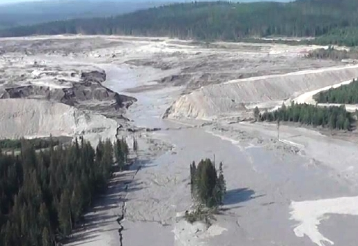 B.C.'s Mount Polley Mine tailings pond broke in August, releasing water and sediment. (Courtesy BC Ministry of Mines)