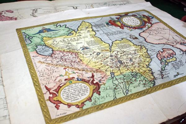 One of Dee Longenbaugh's maps. (Photo by Kayla Desroches/KTOO)