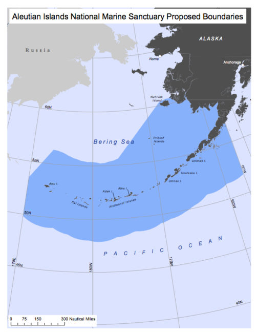 The proposed sanctuary would cover more than 730,000 square miles of federal waters. (Courtesy of Rick Steiner)