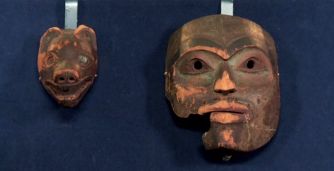 The Tlingit masks.
