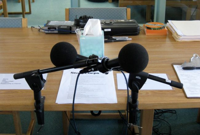 StoryCorps interviews will take place at the Juneau Public Library system starting in May. (Photo by Lisa Phu/KTOO)