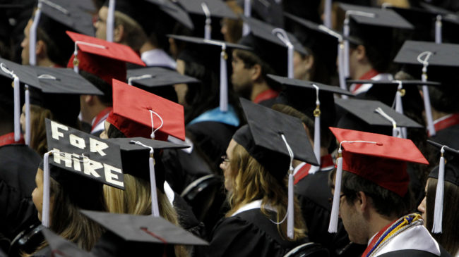 In 22 states, people who default on their student loans can have professional licenses suspended or revoked. The percentage of Americans who default on student loans has more than doubled since 2003. (Photo by Butch Dill/AP)