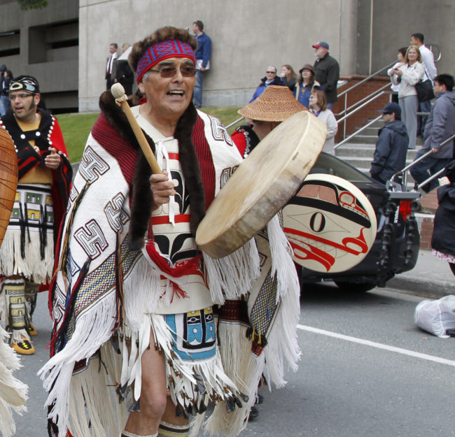 Robert Davidson at Celebration in 2010. (Photo by Brian Wallace Sealaska Heritage Institute)