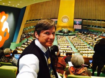 Tlingit-Haida Central Council's Will Micklin attends the United Nation's World Conference on Indigenous Peoples Sept. 22, 2014..