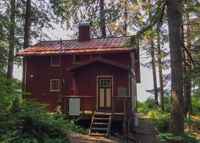 The Gruenings moved to Juneau in 1939. The cabin, known by the family as Eaglerock, was built in 1947. (Photo by Lisa Phu/KTOO)
