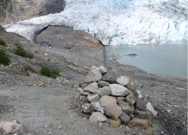 Tersteeg says volunteers will help build 11 more rock cairns. (Photo courtesy Colton Tersteeg)