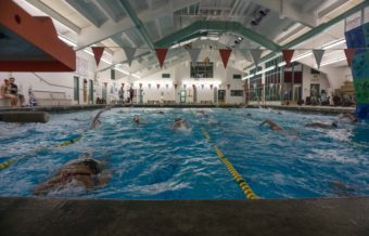 The JDHS swim team practices at Augustus Brown Swimming Pool, Aug. 19, 2015.