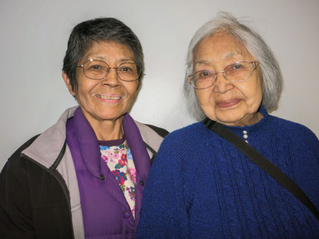 Leonora Florendo and Nora Marks Dauenhauer. (Photo courtesy Juneau Public Libraries)