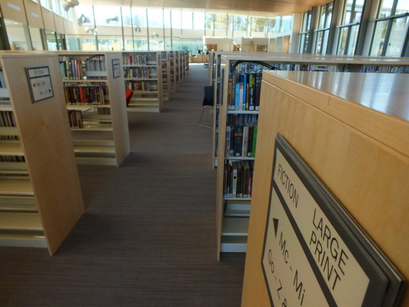 The new Mendenhall Valley Public Library. (Photo by Matt Miller/KTOO)
