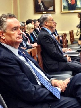 Pebble CEO Tom Collier waits to testify at a U.S. House hearing. (Photo by Liz Ruskin/APRN)