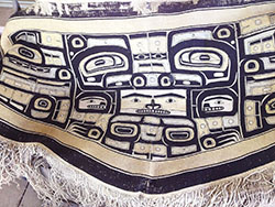 The Chilkat robe is a Raven design and measures just over five feet wide. (Photo by
