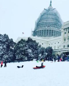 Sen. Lisa Murkowski posted wintry scenes like this on social media this weekend. (Photo courtesy of Sen. Lisa Murkowski)