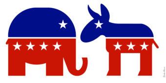 Republican elephant Democratic Donkey