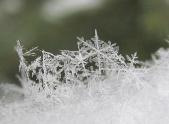 Snow Snowflake Sculpture