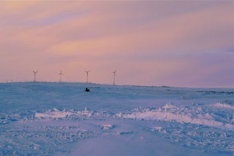 Wind turbines in Chevak