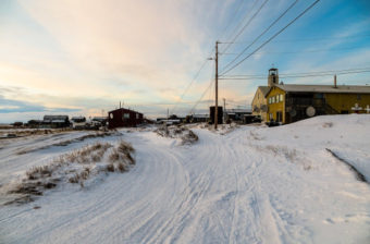 Shishmaref, Alaska is one of the 13 communities chosen to receive assistance implementing sustainable energy projects. (Photo by Maddie Winchester/KNOM)