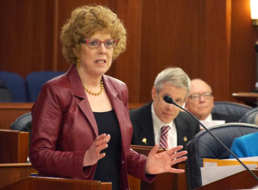 Rep. Gabrielle LeDoux, R-Anchorage, wraps up debate on House Bil