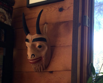 Sheila Dyer's carved goat mask