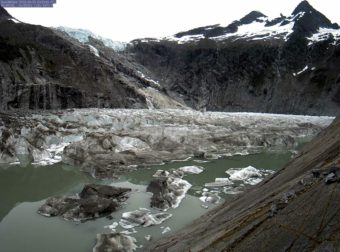 U.S Geological Survey webcam picture of Suicide Basin taken June 29, 2016.